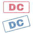 dc textile stamps vector image