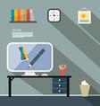 Office Flat Design vector image