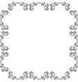 rose frame vector image