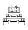 vintage travel suitcase vector image