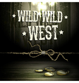Wild west party design vector image