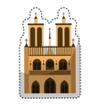 catedral church isolated icon vector image