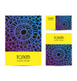 set of tribal style cards identity modern vector image
