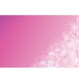 Pink magical flowers glowing horizontal background vector image