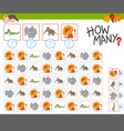 how many dogs activity vector image vector image