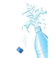 Splashing mineral water vector image