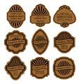set of vintage brown labels vector image