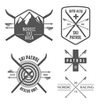Set of nordic skiing labels and emblems vector image vector image