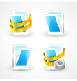 Windows plastic measurement element icons set vector image