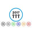 2017 gentlemen dance rounded icon vector image