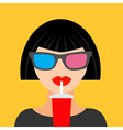 Brunet woman and soda Fat design vector image vector image
