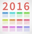 Calendar annual 2016 in flat design vector image vector image