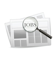 newspaper jobs vector image