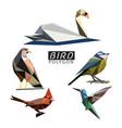 bird polygon vector image