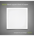 blank square sheet of paper Template for vector image