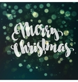 Christmas abstract background with bokeh light vector image