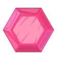 Gemstone icon cartoon style vector image