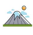 high mountain under sun vector image