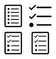 List Flat Icons vector image