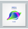 Luxury image logo Rainbow Seashell To design vector image