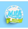 Milk label splash Natural vector image