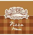 pizza design menu vector image