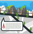 road map with roads and bridge vector image