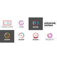 set of web linear icons vector image