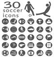 soccer icon2 vector image