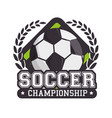 soccer sport ball isolated icon vector image