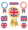uk flags vector image