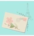 Romantic Letter to Paris vector image