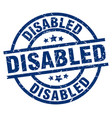 Disabled blue round grunge stamp vector image