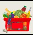 Mediterranean shopping cart vector image vector image