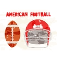 Abstract accessories American Football vector image
