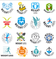 large set of logos weight loss vector image vector image