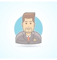 Manager broker sales agent icon Avatar and vector image
