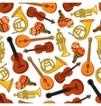 Music equipment instruments seamless pattern vector image vector image