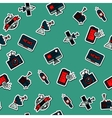 Colored mass media pattern vector image
