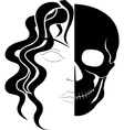 face of ghost vector image