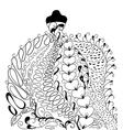 Hand drawn elegant wedding dress vector image