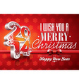 Happy New Year 2014 red celebration background vector image