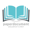 Logo Book Document Lesson Studies Dictionary Icon vector image