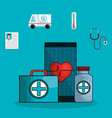 medicine online flat icons vector image