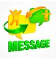 Message speech bubbles vector image