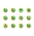 Poolroom round flat color icons set vector image
