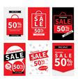 Set of sale website banner templates vector image