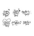 Set of vintage Happy Mothers Day vector image