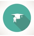Square academic cap icon vector image