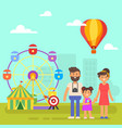 happy family on a weekend vector image